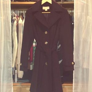 Burgundy Michael Kors women's coat